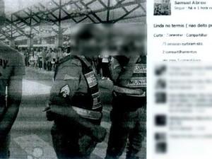 Imagem anexada ao processo mostra foto postada em página de jovem (Foto: Reprodução)