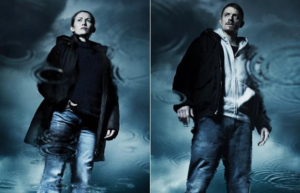 Os detetives de Seattle Sarah Linden (Mireille Enos) e Stephen Holder (Joel Kinnaman) investigam o assassinato de uma jovem (Foto: Divulgação)