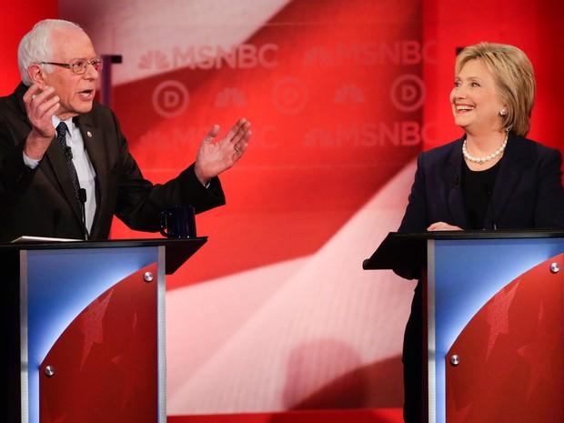 Debate entre pré-candidatos do partido Democrata teve discussão acalorada (Foto: AP Photo/David Goldman)