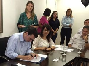 Prefeito anuncia concurso público em Juiz de Fora (Foto: Cláudia Oliveira/ G1)