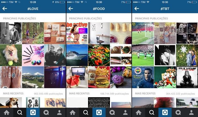 #love, #food e #tbt são algumas das hashtags mais populares no Instagram (Foto: Reprodução/Juliana Pixinine)