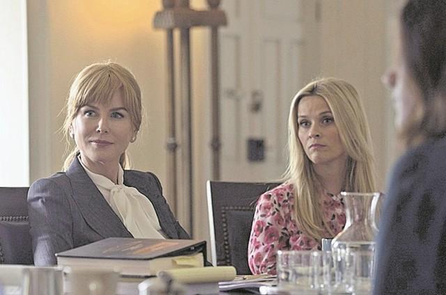 Nicole Kidman e Reese Witherspoon em cena de 'Big little lies' (Foto: Reprodução)