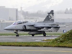 O caça sueco Gripen NG, escolhido pelo Brasil para equipar a FAB (Foto: Divulgação/SAAB)