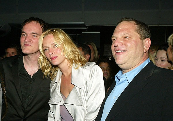 Quentin Tarantino, Uma Thurman e Harvey Weinstein (Foto: Getty Images)