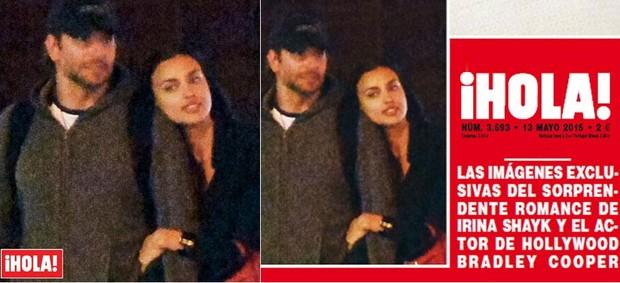 Bradley Cooper com a Irina Shayk em flagra da revista Hola (Foto: Reprodução)