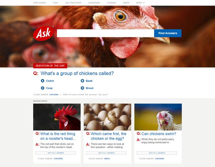 Ask abandonou sistema de busca para não competir com o Google (Foto: Reprodução/Ask)