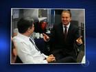 Fotos registram Eduardo Campos momentos antes de entrevista ao JN