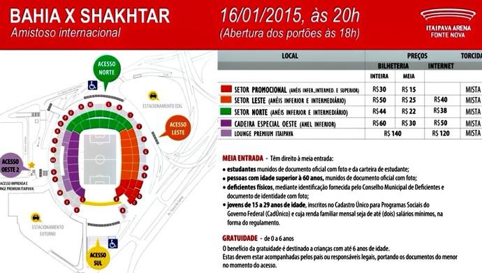 Bahia inicia venda de ingressos para amistoso com o Shakhtar  (Foto: Reprodução)
