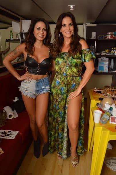 Ivete Sangalo e Alinne Rosa (Foto: Felipe Souto Maior/Ag.News)