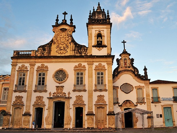 Igreja do Carmo, que faz parte do complexo da Arquidiocese da Paraíba (Foto: Juliana Brito/G1)
