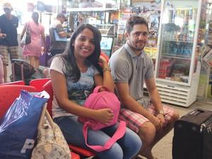 Família de Sheron Batista escolheu passar o Natal em Luís Correia (Foto: Catarina Costa/G1 PI)