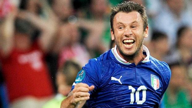 comemoração Cassano da itália- Itália X Irlanda (Foto: EFE)