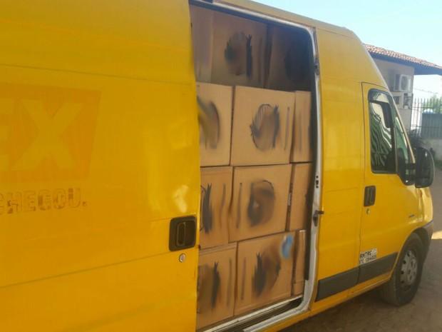 Carga era transportava em carro dos correios, diz polícia (Foto: Blogbraga / Edivaldo Paiva)