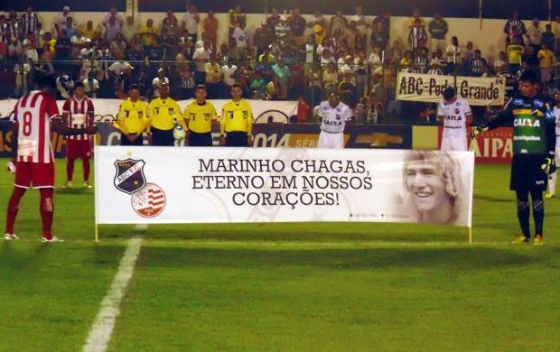 ABC x Náutico - Homenagem a Marinho Chagas (Foto: Klênyo Galvão/GloboEsporte.com)