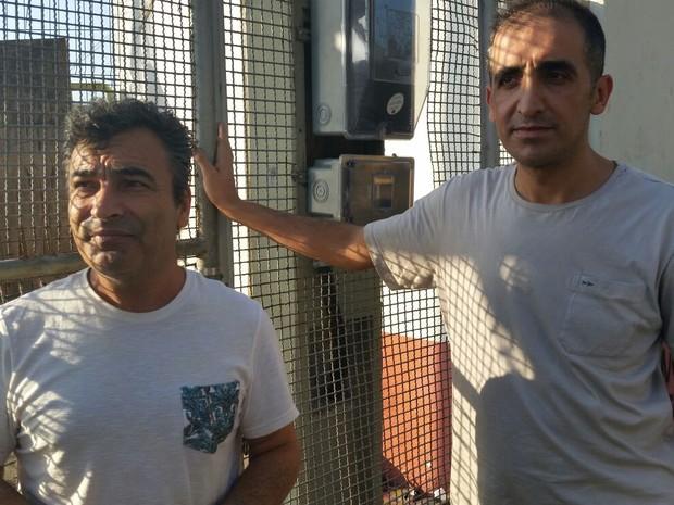 Marinheiros turcos sonham em voltar para casa (Foto: Gabriela Ribeti/ TV Gazeta)