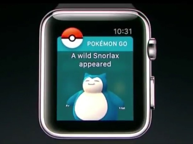 Pokémon Go para Apple Watch (Foto: Divulgação / Apple)