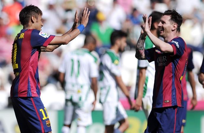Neymar Messi Barcelona (Foto: AFP)