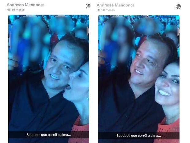 Andressa Mendonça faz post com Cachoeira em rede social, Goiás (Foto: Reprodução/Snapchat)