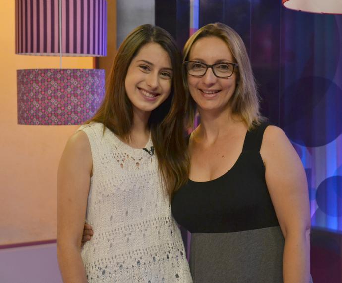 Letícia Roennau e a sua mãe, Luciléia (Foto: Maicon Baptista/RBS TV)