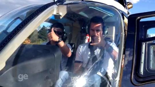 Comandante no solo e no ar: zagueiro do Veranópolis é piloto de helicóptero