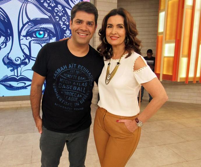 Lair Rennó com a Fátima  (Foto: Juliana Hippert/Gshow)