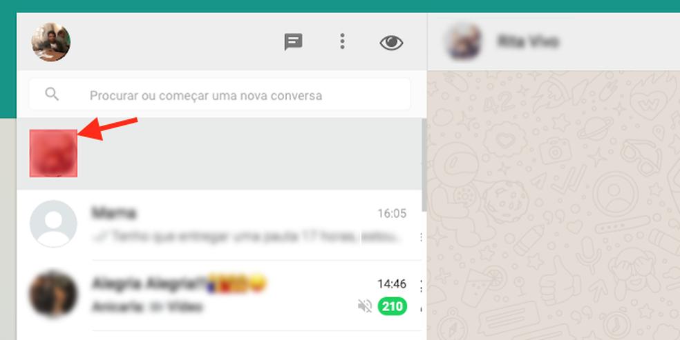 Opção para apagar a foto de um contato do WhatsApp Web como a extensão Page Eraser para Google Chrome (Foto: Reprodução/Marvin Costa)