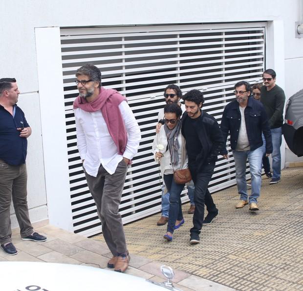 Velório Domingos Montagner - Elenco Velho Chico (Foto: Thiago Duran/ Ag. News)
