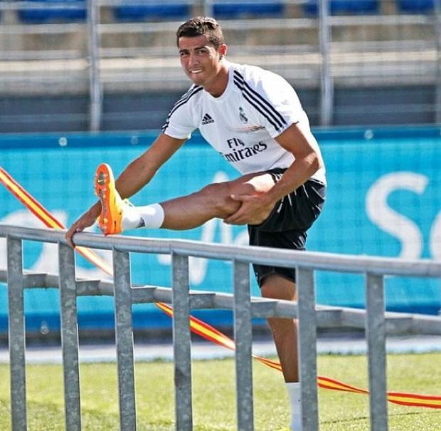 Cristiano Ronaldo treino Real Madrid (Foto: Reprodução / Instagram)