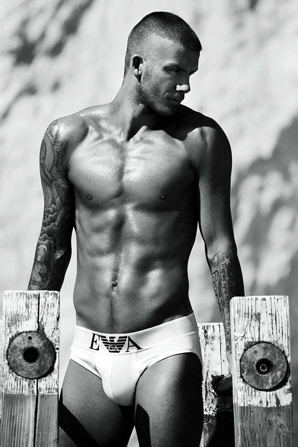David Beckham para Emporio Armani (Foto: Divulgação)