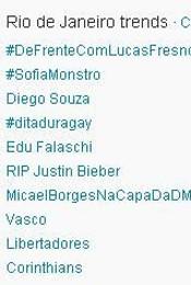 Trending Topics no Rio às 12h10 (Foto: Reprodução)