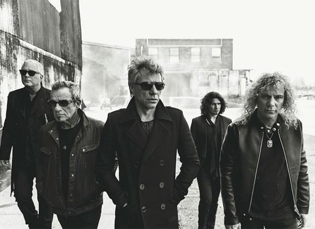Hugh McDonald, Tico Torres, Jon Bon Jovi, Phil X e David Bryan (Foto: Reprodução)