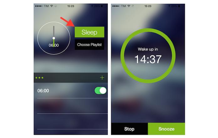 Ativando um alarme com músicas do Spotify no Alarmify para iPhone (Foto: Reprodução/Marvin Costa)