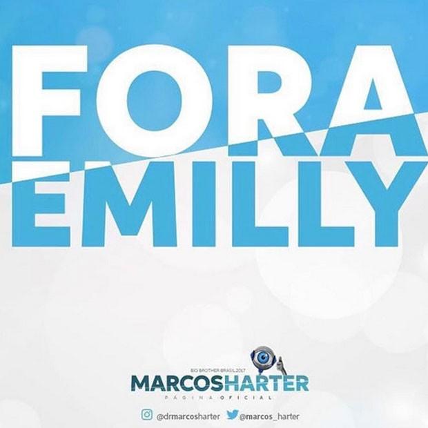 Família de Marcos faz campanha para Emilly ser eliminada (Foto: Instagram/ Reprodução)