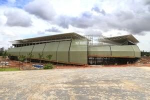 Arena Pantanal dezembro de 2013 (Foto: Edson Rodrigues/Secopa-MT)