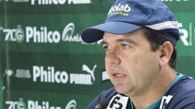 Enderson Moreira - técnico do Goiás (Foto: Fernando Vasconcelos / Globoesporte.com)