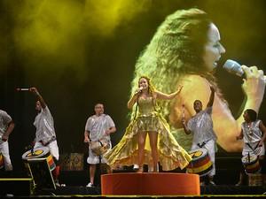 Daniela Mercury e Olodum (Foto: Max Haack/Agecom)