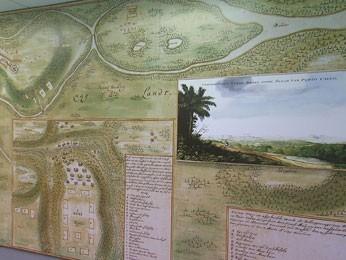 Mapas antigos tinham grandes dimensões (Foto: Reprodução / TV Globo)