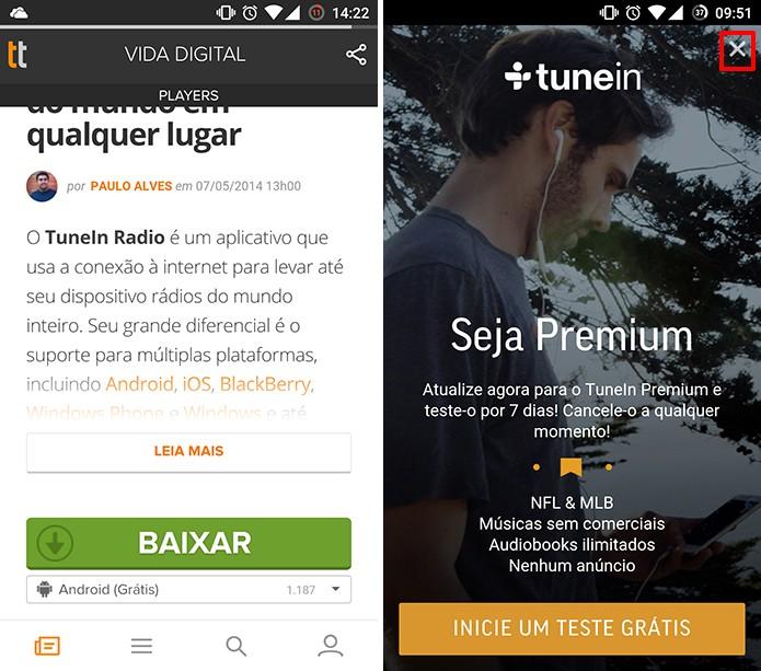 Baixe o TuneIn para Android, iOS ou Windows Phone (Foto: Reprodução/Elson de Souza)