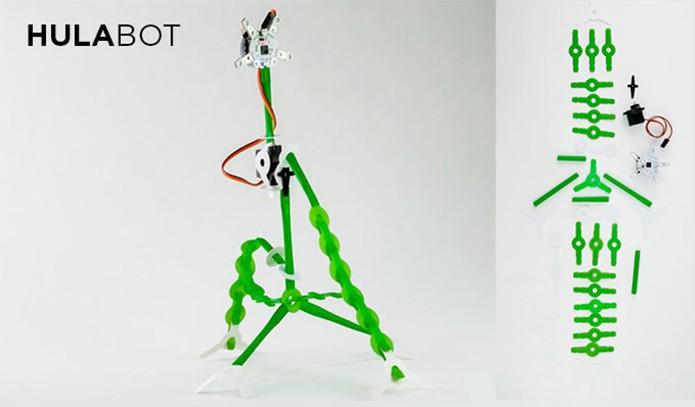 Robô-hula elaborado com o Quirkbot (Foto: Divulgação/Kickstartar)