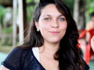 A designer Tuane Costa costuma ir à ilha duas vezes por mês (Foto: Ingrid Bico/G1)