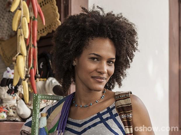 Jéssica Barbosa vive Neidinha na novela 'Em Família' (Foto: Inácio Moraes/ TV Globo)