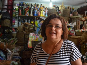 Maria José diz que venda foi mais fraca, mas que não tem do que reclamar (Foto: Marina Fontenele/G1)