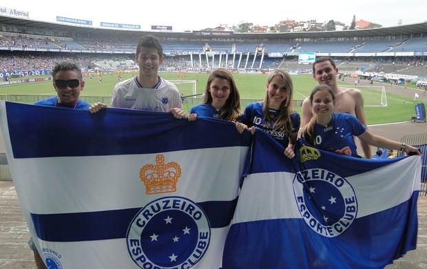 Torcida do Cruzeiro em Porto Alegre (Foto: Tarcísio Badaró / Globoesporte.com)