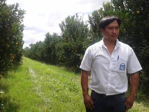 A família de Rubens Minani participa do projeto de irrigação há 35 anos (Foto: Michelly Oda / G1)