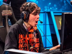 Daniel 'Danagorn' Drummond, jungler da Kabum, em partida do mundial de 'League of Legends' (Foto: Divulgação/Riot Games)