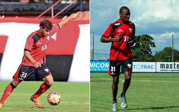 Diogo Campos e Marino - Atlético-GO (Foto: O Popular)