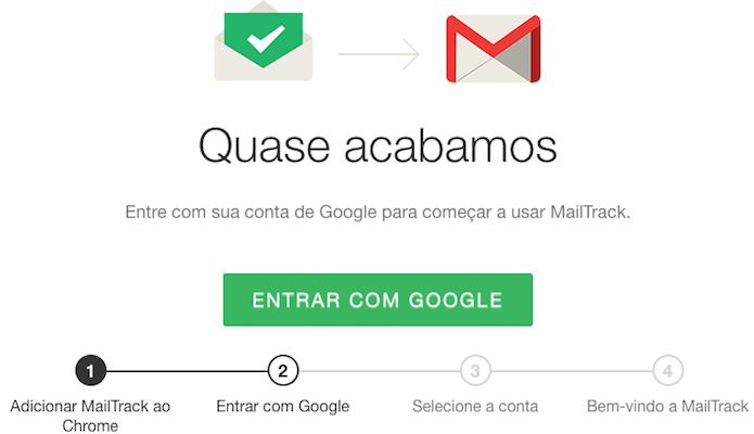 Configurando o MailTrack (Foto: Reprodução/Helito Bijora)