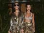 Kim Kardashian e Kourtney Kardashian arrasam com looks sexy