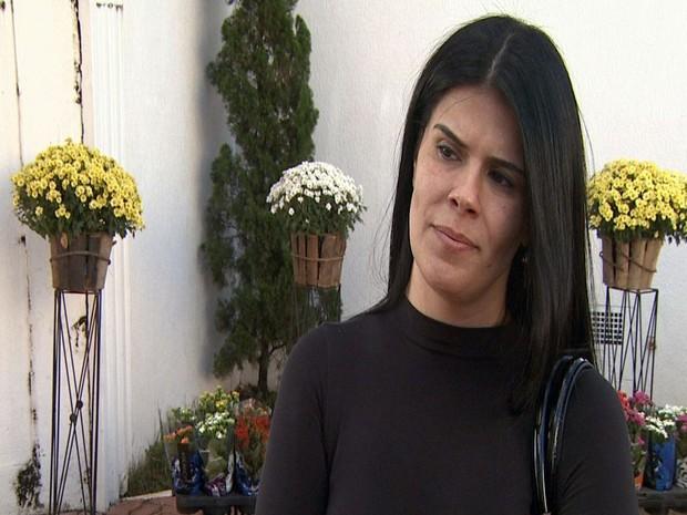 Paola Oliveira, mulher do médico Deives Dias de Oliveira, morto no Samu de Piracicaba (Foto: Ronaldo Oliveira/EPTV)