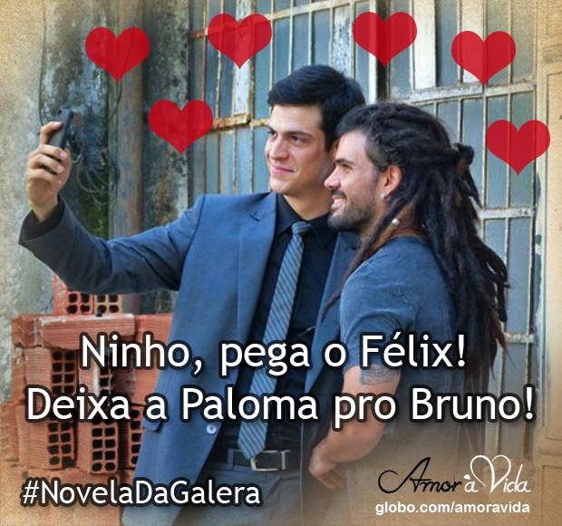 Ninho com Félix (Foto: Amor à Vida / TV Globo)